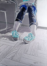 Mag WOZNIAK - Painting - Body Language - Sneakers