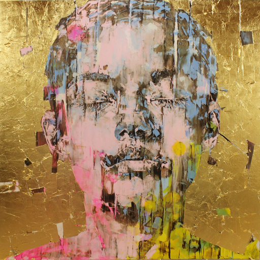 Marco GRASSI - Painting - The Di-Gold Experience 2, 150 x 150 cm