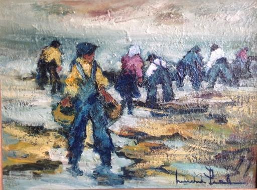 Michel PIEL - Pintura - la pêche à pied