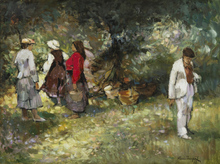 Alessio ISSUPOFF (1889-1957) - Gathering Berries in the Forest