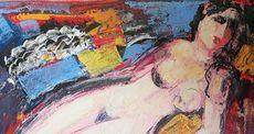 Wahid MAGHARBEH - Pintura - Nudo disteso