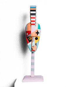 """Joël HUBAUT - Sculpture-Volume - Masque """"Futura solus-africus"""""""