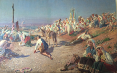 Richard BÖHM - Painting - Osterprozession, Easter procession Russia, Italy