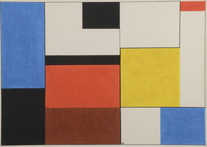 Étienne BEÖTHY (1897-1961) - Composition géométrique