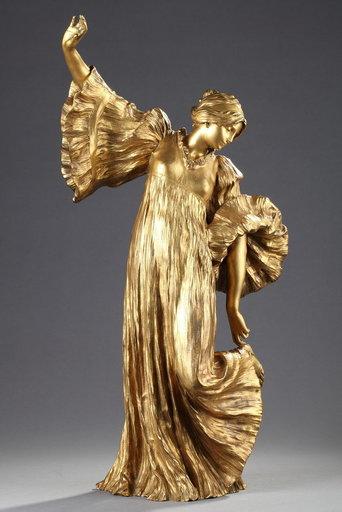 Agathon LÉONARD - Sculpture-Volume - Danseuse à la cothurne