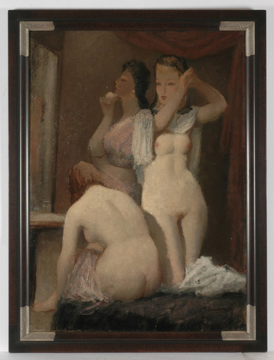 "Josef Kamenitzky STEINER - Gemälde - ""After bath"" oil on canvas, 1930s"