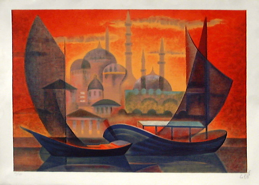 Louis TOFFOLI - Grabado - Istanbul