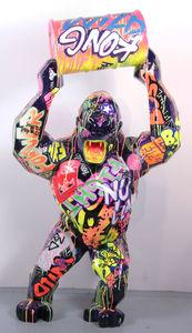 Richard ORLINSKI - Sculpture-Volume - Wild kong au bidon - tagué