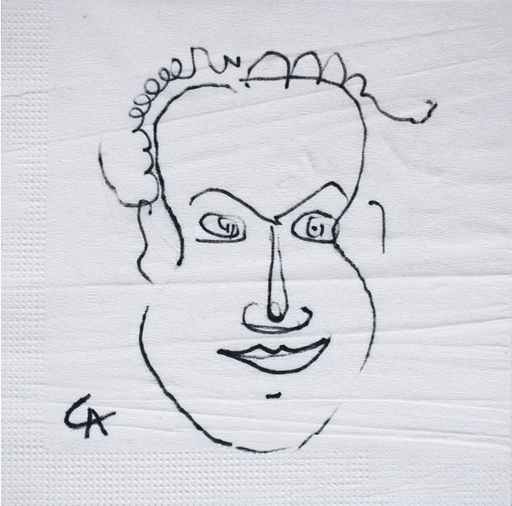 Alexander CALDER - Dessin-Aquarelle - Portrait of Giovanni Carandente