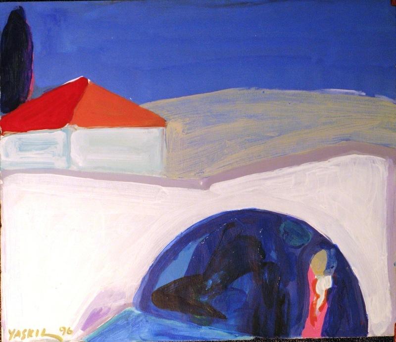 Amos YASKIL - Dessin-Aquarelle - Maria's Well in Nazareth