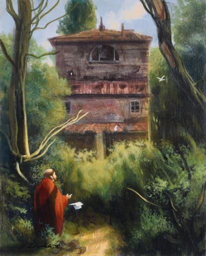 Silvestro PISTOLESI - Gemälde - La sera sul bosco