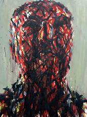 Max UHLIG - Painting - Kopf W.S.