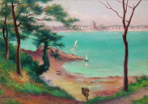 Gabriel Marie CHANTEAU - Pintura - La Rance à St.Servan