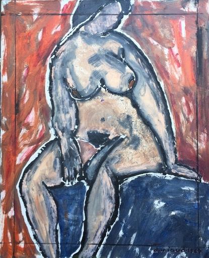 Christian DURIAUD - Pintura - Nu assis