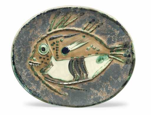 Pablo PICASSO - Ceramic - Poisson chiné