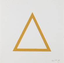 索尔·勒维特 - 版画 - Five Geometric Figures in Five Colors, Plate #07