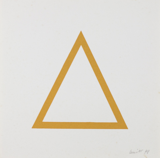 Sol LEWITT - Print-Multiple - Five Geometric Figures in Five Colors, Plate #07