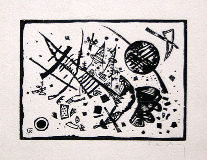 Wassily KANDINSKY - Grabado - Untitled (From Ganymed-Mappe Portfolio)