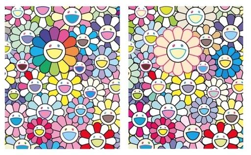Takashi MURAKAMI - Grabado - Flowers of Hope / Field of Flowers