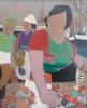 Claude ALIOTTI - Pintura - La marchande de poisson