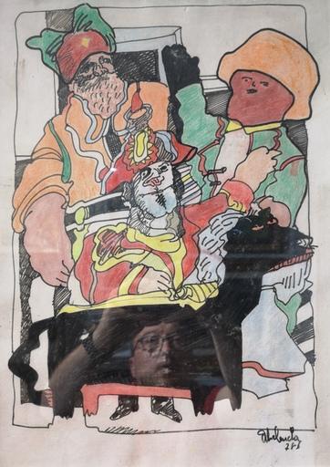 Alfonso ABELENDA ESCUDERO - Dibujo Acuarela - Una de piratas