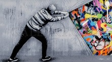 Martin WHATSON - Print-Multiple - Behind the Curtain - Acrylic