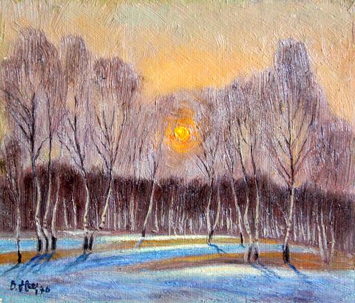 Valeriy NESTEROV - Painting - Staratel Village. Neighborhood of Nizhniy Tagil