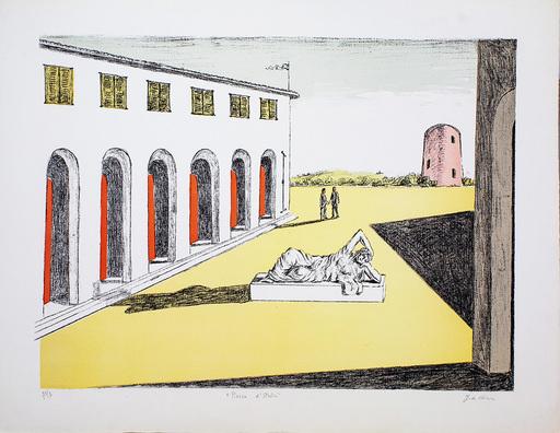 乔治•德•基里科 - 版画 - Piazza D'Italia 1969