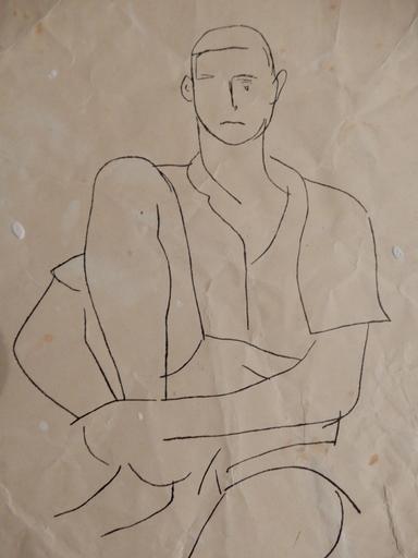 Marino MARINI - Drawing-Watercolor - Boy