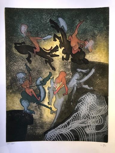 "Roberto MATTA - Print-Multiple - Hom'mere Chaosmos entitled ""Au son du sang"""