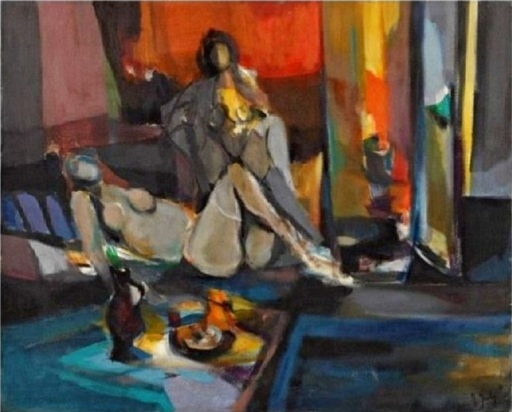 Marcel MOULY - Pintura - Odalisques