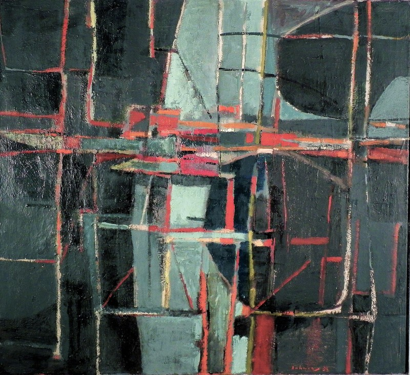 Karl Fred DAHMEN - Gemälde - OHNE TITEL - 1953