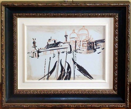 Remo BRINDISI - Painting - Venezia 1970