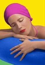 Carole FEUERMAN - Grabado - Serena with pink cap