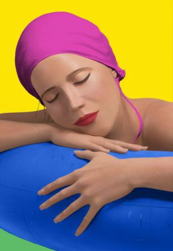 Carole FEUERMAN - Stampa Multiplo - Serena with pink cap