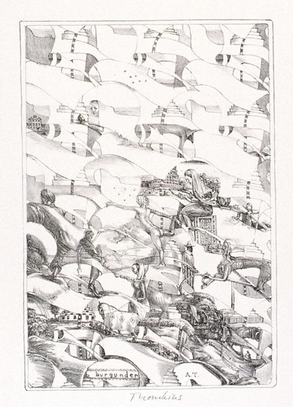 André THOMKINS - Estampe-Multiple - Burgunder