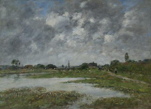 Eugène BOUDIN - Pintura - La Touques à Trouville