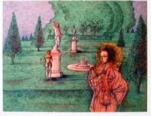 Jean CARZOU - Grabado - Automn A Versailles