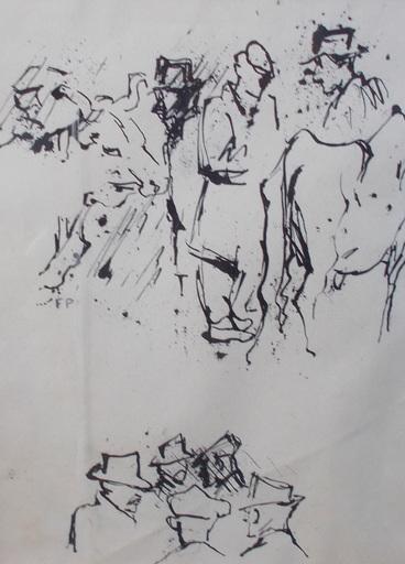 Felicia PACANOWSKA - Drawing-Watercolor - Marché au bestiaux