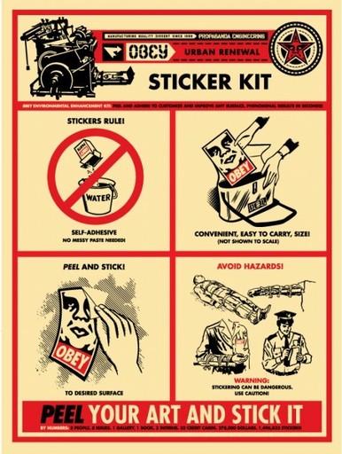 Shepard FAIREY - Estampe-Multiple - Sticker Kit