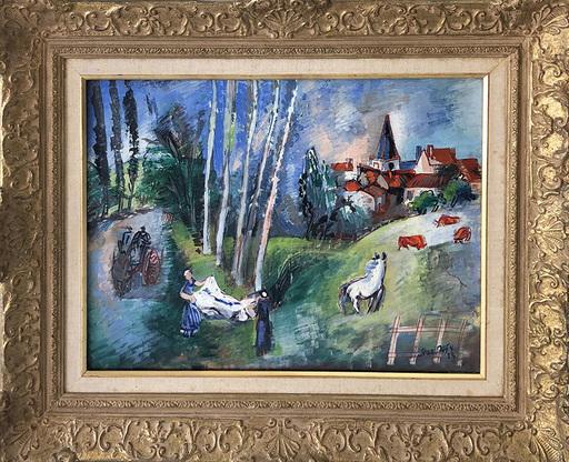 Jean DUFY - Painting - Village du Limousin