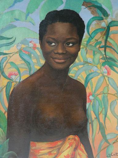 Ginette COSTE - Painting - AFRIQUE  - FEMME - PORTRAIT - RITRATTO
