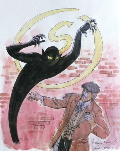 "Francis CARIN - Painting - ""Mort sur la Tamise"""