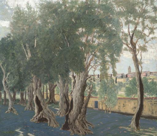 Benno BECKER - Peinture - Olivenhain