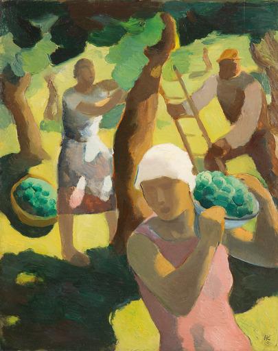 Karl HAUK - Peinture - Ernte