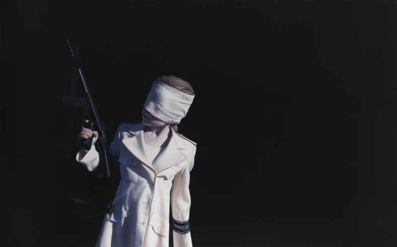 Gottfried HELNWEIN - Painting - The Disasters of War 35