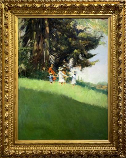 Alessandro POMI - Gemälde - Bimbe al sole