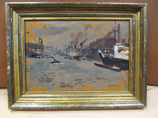 Hans II OLDE - Painting - Hamburger Hafen