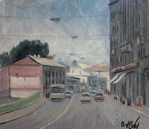 Valeriy NESTEROV - Painting - Moscow. Solyanka Street 1/2