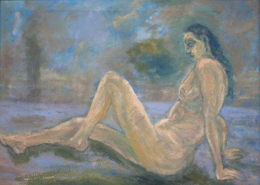 Ingrid GOLTZSCHE-SCHWARZ - Painting - ohne Titel (Weiblicher Akt am Strand)